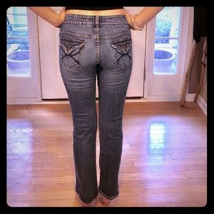 Delia's Reese 5/6 low-rise straight-leg Jeans